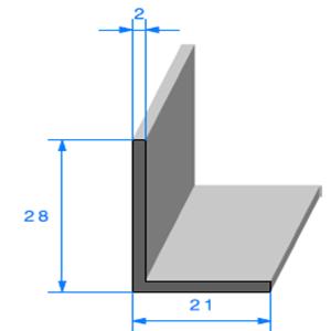 Compact en L   [21 x 28 mm]   Vendu au Mètre