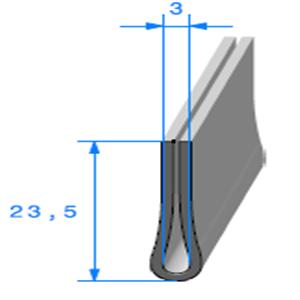 Compact en U <br /> Ref 130B <br /> Vendu au Mètre<br />