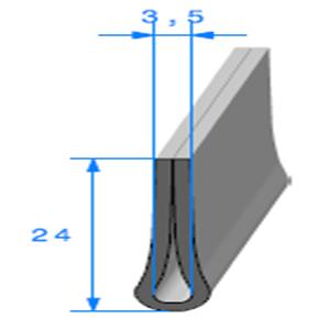 Compact en U <br /> Ref 130C <br /> Vendu au Mètre<br />