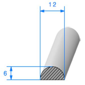 1/2 Rond Cellulaire <br /> Ref 002 <br /> Vendu au Mètre<br />