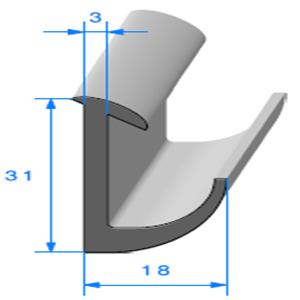 Compact en L 18x31 mm   Vendu au Mètre