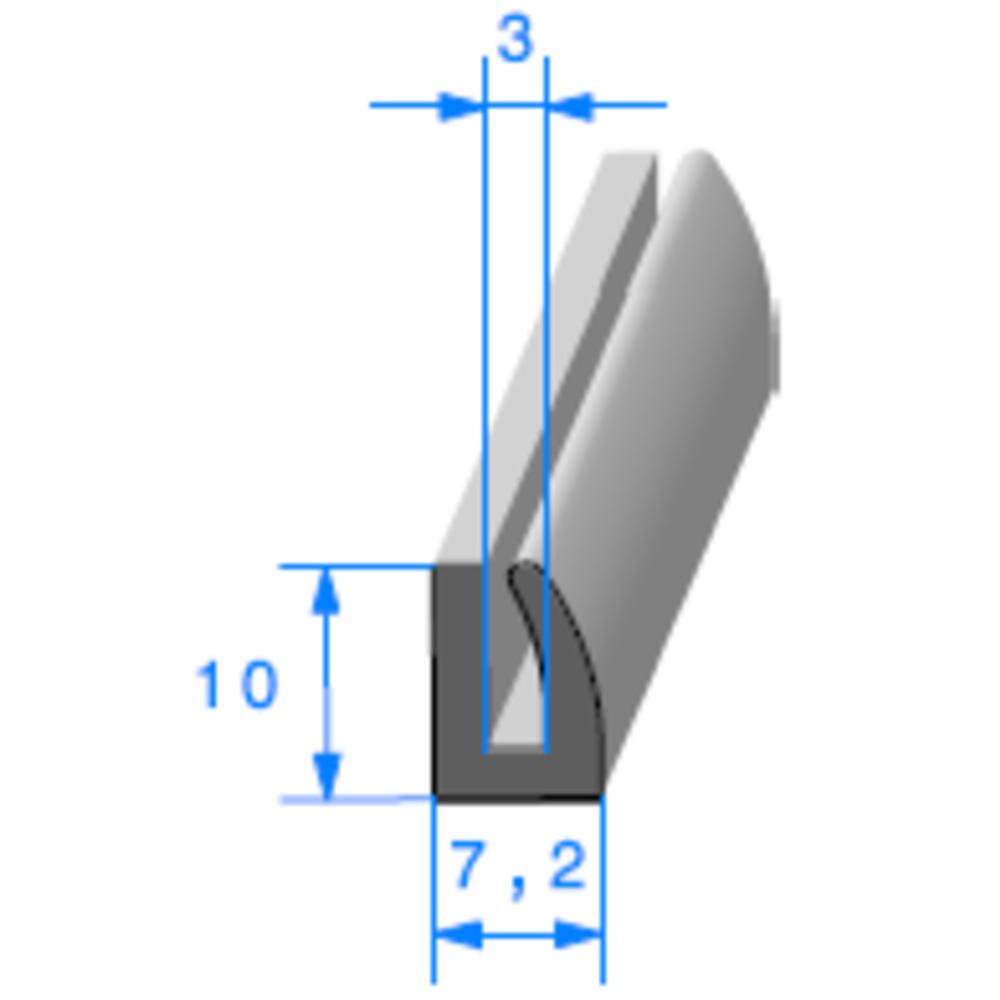 Compact en U   [pour EP 3 mm]   Vendu au Mètre