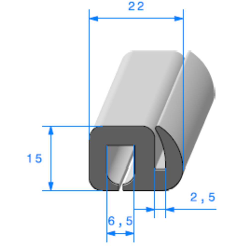 Joint de Fenêtre en S   Ref 256   Vendu au Mètre
