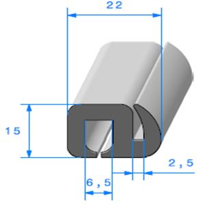 Joint de Fenêtre en S 15x22 mm   Vendu au Mètre