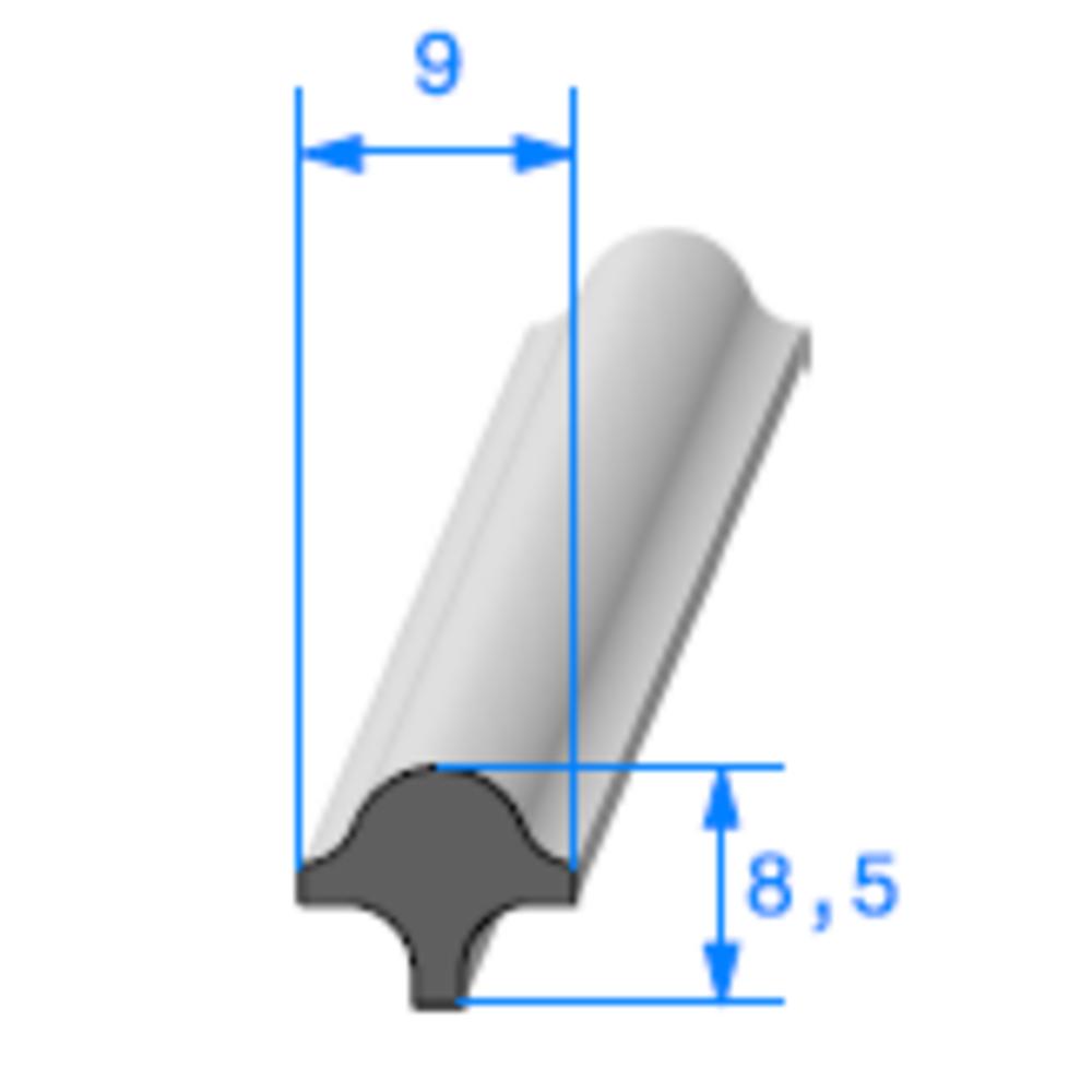 Clé pour Prof Compact Glace   Ref 270   Vendu au Mètre