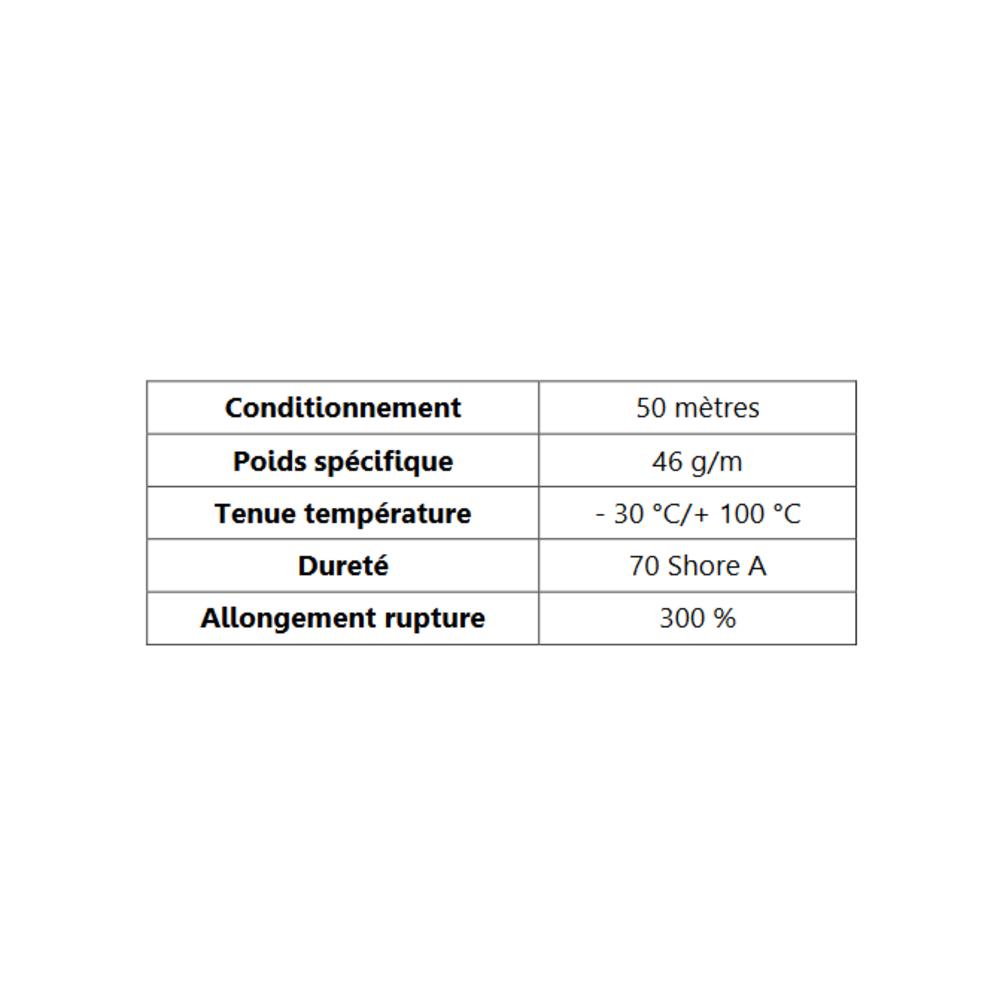 Clé pour Prof Compact Glace   [9 x 8.5 mm]   Vendu au Mètre