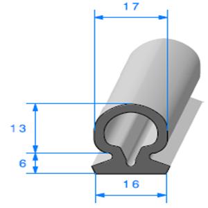 Compact Bourrelet   [17 x 19 mm]   Vendu au Mètre
