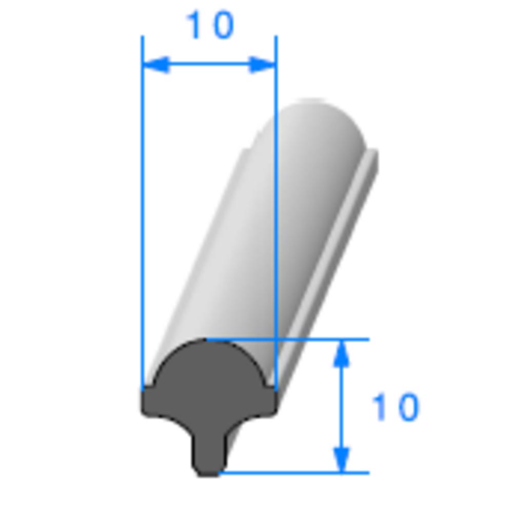 Clé pour Prof Compact Glace   Réf 289   Vendu au Mètre