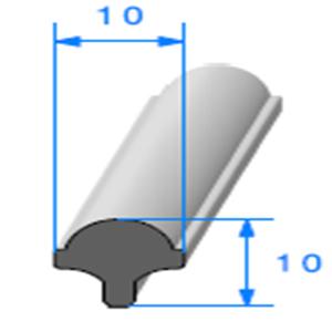 Clé pour Prof Compact Glace 10x10 mm   Vendu au Mètre