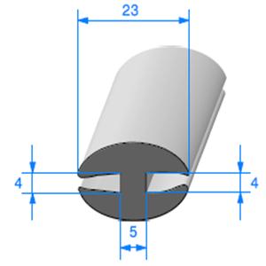 Joint de Fenêtre en H   [23 x 12 mm]   Vendu au Mètre