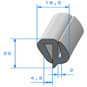 Joint de Fenêtre en S   Ref 310   Vendu au Mètre
