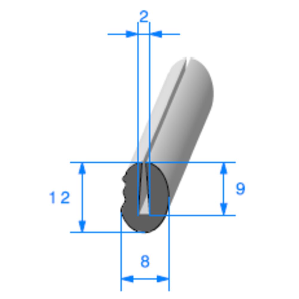 Compact en U   [pour EP 2 mm]   Vendu au Mètre