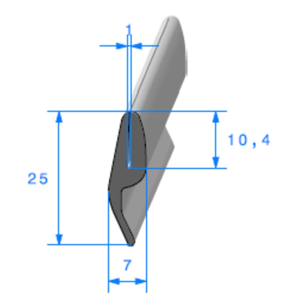 Compact en U + Lang   Ref 313   Vendu au Mètre