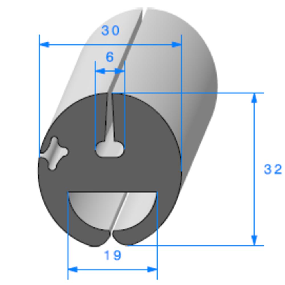 Joint de Fenêtre en H   Ref 316   Vendu au Mètre