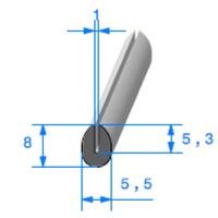 Compact en U   [pour EP 1 mm]   Vendu au Mètre