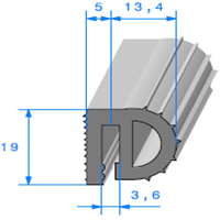 Isotherme   [18.4 x 19 mm]   Vendu au Mètre