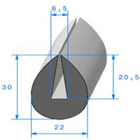 Compact en U   [pour EP 6.5 mm]   Vendu au Mètre