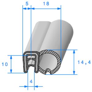Pince Armé + Bulbe EPDM   [pour EP 2.5 à 4 mm]   Vendu au Mètre