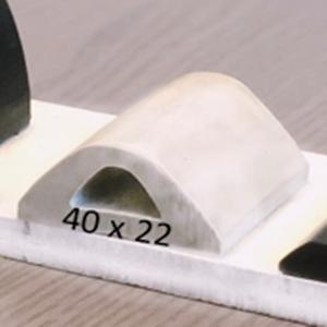 Défense de Quai Blanc   [40 x 22 mm]   Vendu au Mètre