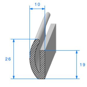 U Cellulaire   [10 x 26 mm]   Vendu au Mètre