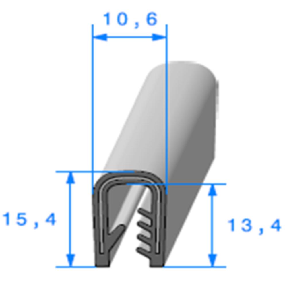 Pince PVC Armée   Réf 410   Vendu au Mètre