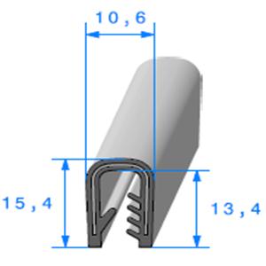 Pince PVC Armé   Ref 410   Vendu au Mètre