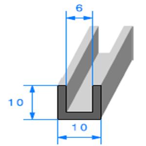 Compact en U <br /> Ref 418 <br /> Vendu au Mètre<br />