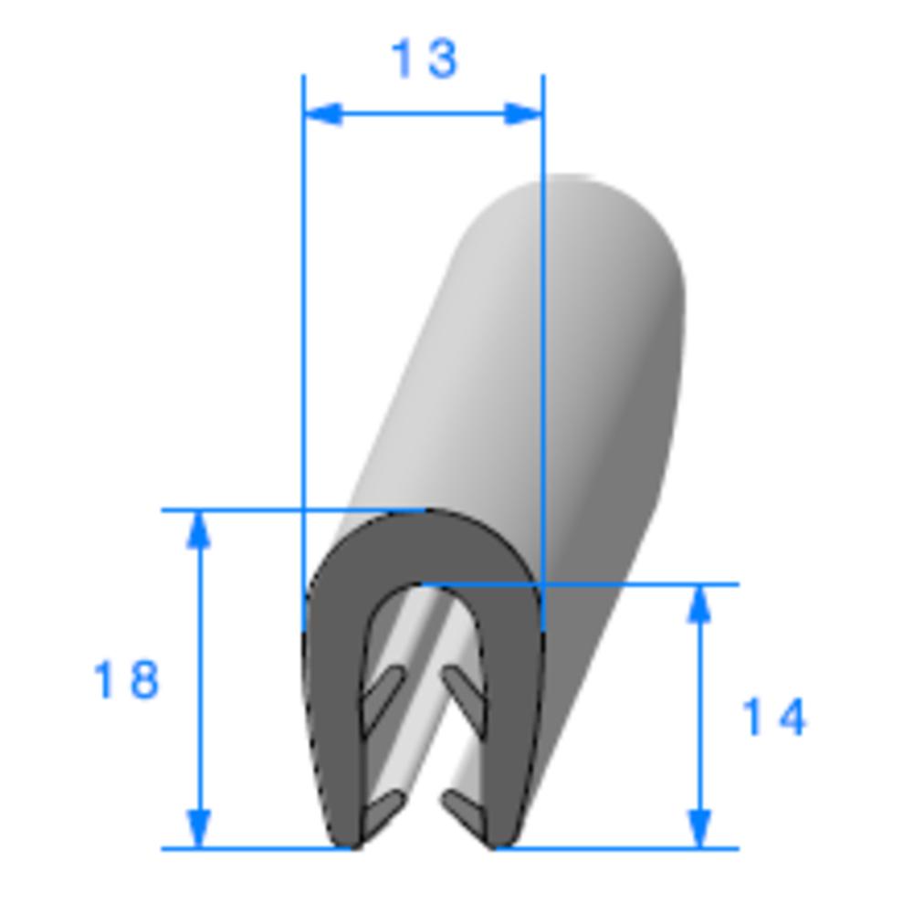 Pince EPDM Bi-Dureté   [pour EP 3 à 5 mm]   Vendu au Mètre