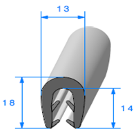 Pince EPDM Bi-Dureté   Ref 502   Vendu au Mètre