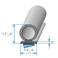 Semelle EPDM ADH + Bulbe EPDM   Ref 506   Vendu au Mètre