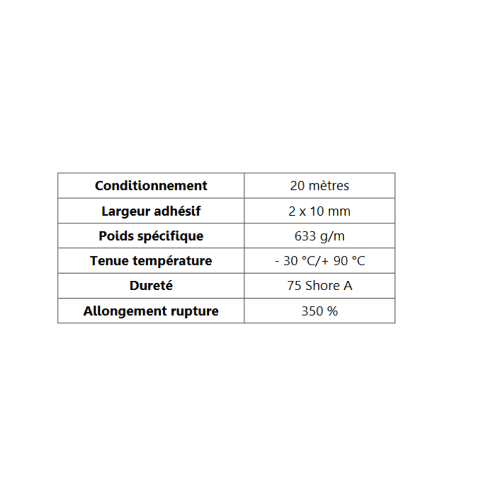 Butoir pour Angle ADH   [20 x 38 mm]   Vendu au Mètre