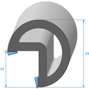 Butoir pour Angle -ADH- 02x10 mm Large <br /> Vendu au Mètre<br />