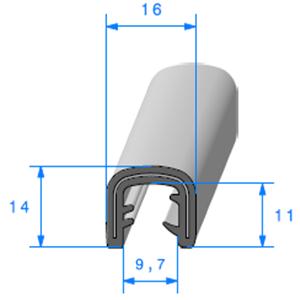 Pince EPDM Armé   [pour EP 7 à 8 mm]   Vendu au Mètre