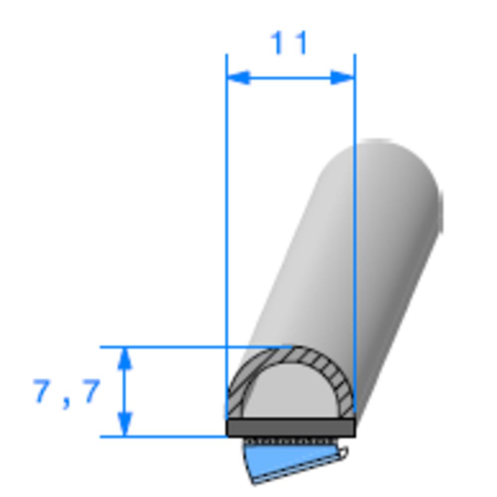 Semelle ADH + Bulbe   Ref 552   Vendu au Mètre