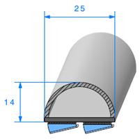 Semelle EPDM ADH + Bulbe   Ref 558   Vendu au Mètre
