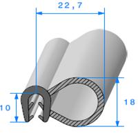 Pince EPDM + Bulbe EPDM   [pour EP 2.5 à 3.5 mm]   Vendu au Mètre