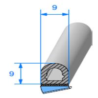 1/2 Rond Cellulaire ADH   [9 x 9 mm]   Vendu au Mètre