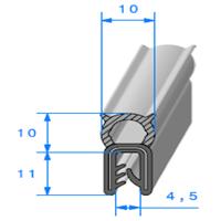 Pince EPDM Armé + Bulbe EPDM   [pour EP 3 à 5 mm]   Vendu au Mètre