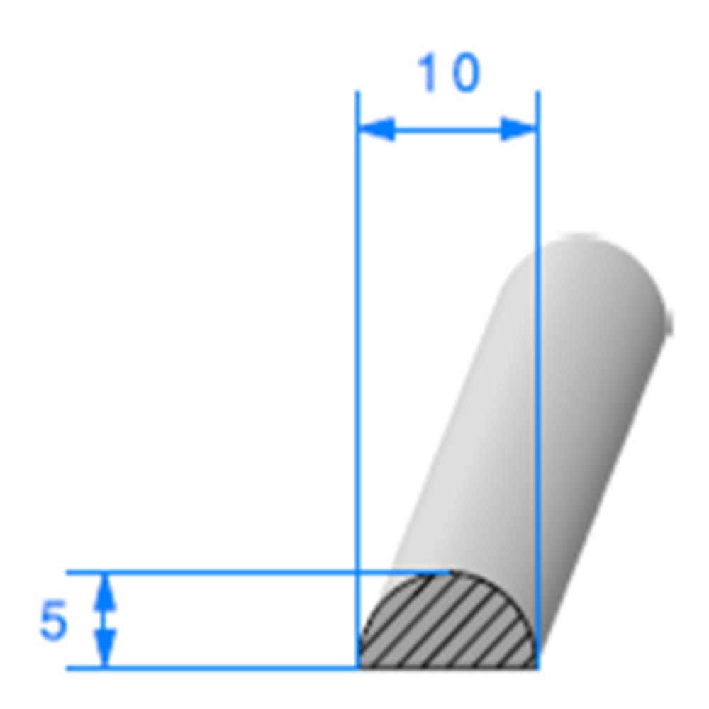 1/2 Rond Cellulaire   Réf 059   Vendu au Mètre