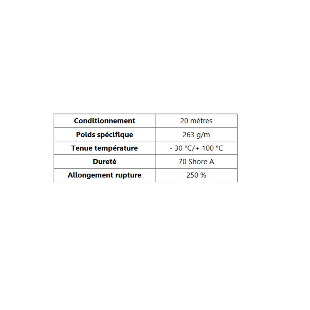 Joint de Fenêtre en H 17x21 mm   Vendu au Mètre