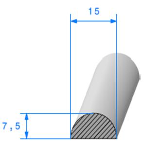 1/2 Rond Cellulaire <br /> Ref 60 <br /> Vendu au Mètre<br />