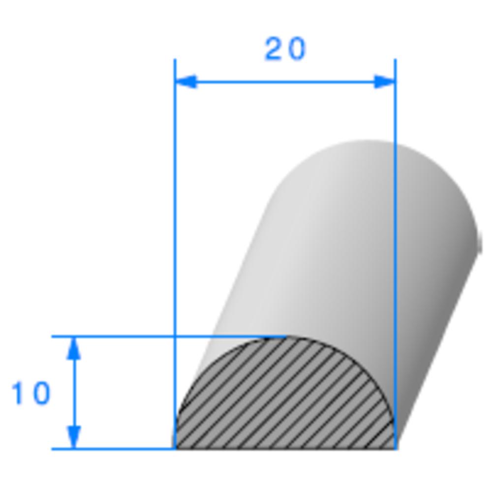 1/2 Rond Cellulaire   Ref 61   Vendu au Mètre