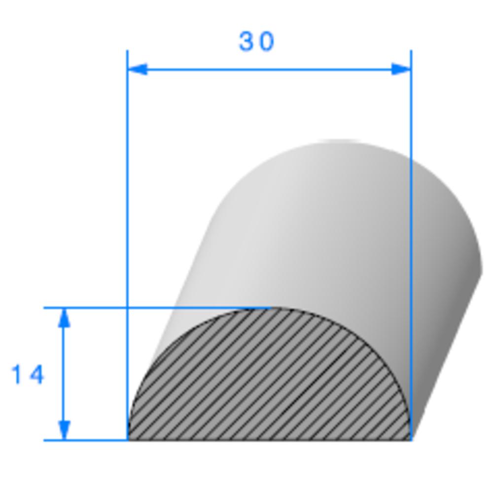 1/2 Rond Cellulaire   Ref 062   Vendu au Mètre