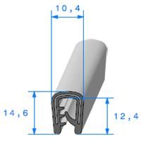 Pince PVC Armé   Ref 671   Vendu au Mètre