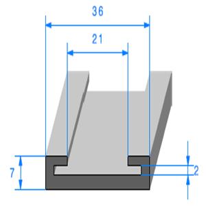Profil Semelle EPDM   [21 mm]   Vendu au Mètre