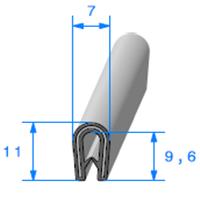 Pince PVC Armé   [pour EP 1 à 2.5 mm]   Vendu au Mètre