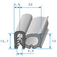 Pince EPDM Armé + Bulbe EPDM   [pour EP 2 à 3 mm]   Vendu au Mètre