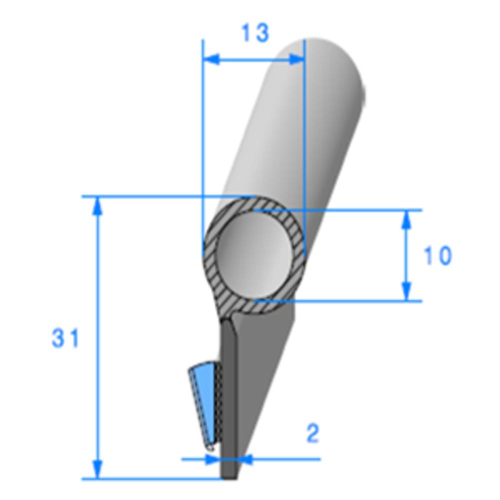 Semelle ADH + Bulbe   Ref 790   Vendu au Mètre