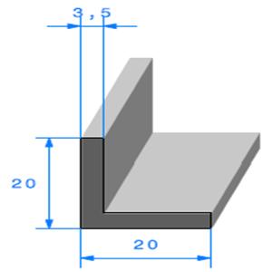Compact en L <br /> Ref 812 <br /> Vendu au Mètre<br />