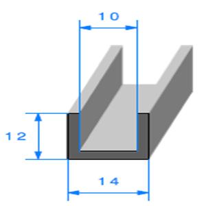 Compact en U <br /> Ref 827 <br /> Vendu au Mètre<br />